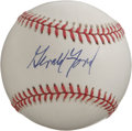 Autographs:Baseballs, Gerald Ford Single Signed Baseball. Superb clean ONL (White) orbseen here provides the perfect canvas for the 9/10 preside...