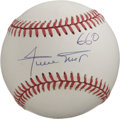 "Autographs:Baseballs, Willie Mays ""660"" Single Signed Baseball. Simply pristine exampleof the Say Hey Kid's signature appears on the sweet spot ..."