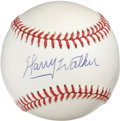 "Autographs:Baseballs, Harry Walker Single Signed Baseball. Long-time Cardinals greatHarry ""the Hat"" Walker got his nickname from his habitual ad..."