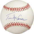 Autographs:Baseballs, Tim McCarver Single Signed Baseball. Former star backstop for theSt. Louis Cardinals Tim McCarver has made the offered ONL...
