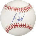 "Autographs:Baseballs, Lee Smith Single Signed Baseball. The perennial All-Star Lee Smithstood at 6'6"" and 265 pounds, intimidating for any man w..."