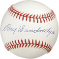 Autographs:Baseballs, Ray Dandridge Single Signed Baseball. Simply breathtaking exampleof Hall of Famer Ray Dandridge's signature booms across t...