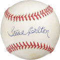 Autographs:Baseballs, Steve Carlton Single Signed Baseball. Lefty's left a perfect 10application of his Hall of Fame signature on the sweet spot...