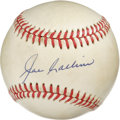 Autographs:Baseballs, Joe Collins Single Signed Baseball. With ten solid seasons for somevery good New York Yankees squads, Joe Collins got to p...
