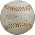Autographs:Baseballs, Bill Terry Single Signed Baseball. Vintage orb dons a sweet spotsignature courtesy of Cooperstown darling Wild Bill Terry,...