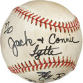 Autographs:Baseballs, Bob Hope Single Signed Baseball. American entertainment legend BobHope has made a tremendous memento of the offered baseba...