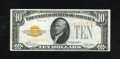 Small Size:Gold Certificates, Fr. 2400 $10 1928 Gold Certificate. Extremely Fine.. Fresh paper and radiant ink colors are seen on this attractive gold cer...
