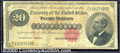 Large Size Gold Certificates:Large Size, 1882 $20 Gold Certificate, Fr-1178, VG. A better type but well ...