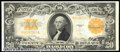 Large Size Gold Certificates:Large Size, 1922 $20 Gold Certificate, Fr-1187, AU. A superb note that is l...