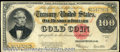 Large Size Gold Certificates:Large Size, 1922 $100 Gold Certificate, Fr-1215, Fine. A bright note with ...