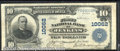 National Bank Notes:Kentucky, First National Bank of Jenkins, KY, Charter #10062. 1902 $10 Th...