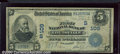 National Bank Notes:Kentucky, First National Bank of Louisville, KY, Charter #109. 1902 $5 Th...