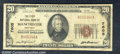 National Bank Notes:Kentucky, First National Bank of Manchester, KY, Charter #7605. 1929 $20 ...