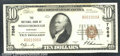 National Bank Notes:Kentucky, National Bank of Middlesborough, KY, Charter #7086. 1929 $10 Ty...