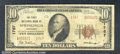 National Bank Notes:Kentucky, First National Bank of Springfield, KY, Charter #1767. 1929 $10...