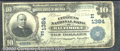 National Bank Notes:Maryland, Citizens National Bank of Baltimore, MD, Charter #1384. 1902 $1...