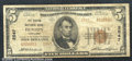 National Bank Notes:Maryland, Denton National Bank, MD, Charter #2547. 1929 $5 Type Two, Fr-1...