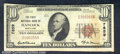 National Bank Notes:Maryland, First National Bank of Hancock, MD, Charter #7859. 1929 $10 Typ...