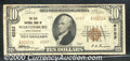 National Bank Notes:West Virginia, Old National Bank of Martinsburg, WV, Charter #6283. 1929 $10 T...