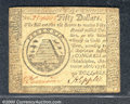 Colonial Notes:Continental Congress Issues, September 26, 1778, $50, Continental Congress Issue, CC-85, XF....