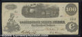 Confederate Notes:1862 Issues, 1862 $100 Railway Train; Diffused Steam from Locomotive; Milkma...