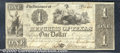 Miscellaneous:Republic of Texas Notes, $1, The Republic of Texas, Austin, TX, 3/1/1841, A-1, Fine. A b...