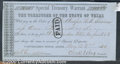 Miscellaneous:Republic of Texas Notes, $100, Treasurer of the State of Texas, Special Treasury Warrant...