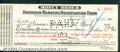 Miscellaneous:Checks, $19, American Bankers' Association Form, Money Order, 2/13/1907...
