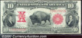 Large Size:Legal Tender Notes, 1901 $10 Legal Tender Note, Fr-122, VF. A bold and colorful Bis...