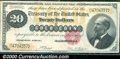 Large Size Gold Certificates:Large Size, 1882 $20 Gold Certificate, Fr-1178, VF-XF. A bright and colorfu...