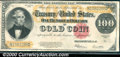 Large Size Gold Certificates:Large Size, 1922 $100 Gold Certificate, Fr-1215, VF. The note faces up well...
