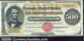 Large Size Gold Certificates:Large Size, 1882 $500 Gold Certificate, Fr-1216a, Fine-VF. A bright and bea...