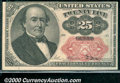 "Fractional Currency: , 1874-1876, 25c Fifth Issue, Walker, Fr-1309, AU. This ""short, e..."