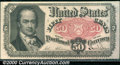 Fractional Currency: , 1874-1876, 50c Fifth Issue, Crawford, Fr-1381, Choice AU. A lig...