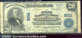 National Bank Notes:Missouri, First National Bank of Wellston, MO, Charter #8011. 1902 $20 Th...