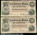 Confederate Notes:1864 Issues, Multiple Coin Lot...