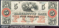 Obsoletes By State:Maryland, $5, The Hagerstown Bank, MD, CU. A bright and fresh note with g...