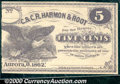 Obsoletes By State:Ohio, 5 Cents, C & C R Harmon & Root, Aurora, OH, 1862, AU. Acolorfu...