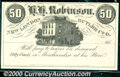 Obsoletes By State:Ohio, 50 Cents, H H Robinson, New London, Butler Co, OH, 185_, CU. Is...