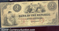 Obsoletes By State:Rhode Island, $2, The Bank of The Republic, Providence, RI, 2/4/1856, Fine. A...