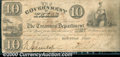 Miscellaneous:Republic of Texas Notes, $10, The Government of Texas, Houston, TX, H-17. Three cut canc...