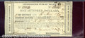 Miscellaneous:Republic of Texas Notes, $100, Consolidated Fund of Texas, Houston, 3/1/1839, CF-1, CU. ...