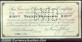 Miscellaneous:Scrip, $20, San Francisco Clearing House Certificate, 11/13/1907, VF-X...