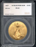 Proof Saint-Gaudens Double Eagles: , 1908 $20 ROMAN