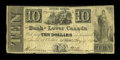 Canadian Currency: , Quebec, LC- The Bank of Lower Canada $10 Aug. 14, 1880 Ch. # 410-10-12. ...