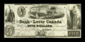 Canadian Currency: , Quebec, LC- The Bank of Lower Canada $5 April 4, 1840 Ch. #410-10-10. ...