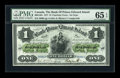 Canadian Currency: , Charlotte Town, PEI- The Bank of Prince Edward Island $1 Jan. 1, 1877 Ch. # 600-12-04. ...