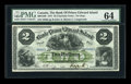 Canadian Currency: , Charlotte Town, PEI- The Bank of Prince Edward Island $2 Jan. 1,1877 Ch. # 600-12-08. ...