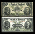 Canadian Currency: , Montreal, PQ- The Bank of Montreal $5, $10 Jan. 2, 1923 Ch. #505-56-02, 505-56-04. ... (Total: 2 notes)