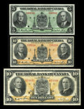 Canadian Currency: , Montreal, PQ- The Royal Bank of Canada $10 (2), $5 July 3, 1933,Jan. 2, 1935, Jan. 2, 1943 Ch. # 630-16-04, 630-18-04a, 630...(Total: 3 notes)